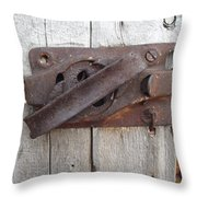 Rusted Latch Throw Pillow