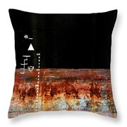 Rusted Layer Throw Pillow