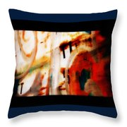 Rusted Paint Throw Pillow