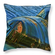 Rusted Submarine Throw Pillow