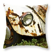 Rusted Volkswagen Throw Pillow