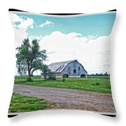 Rustic Barn Scene Throw Pillow