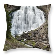 Rustic Falls Yellowstone Throw Pillow