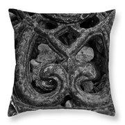 Rustic Iron Throw Pillow