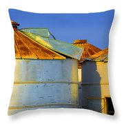 Rustic On The Blue Throw Pillow