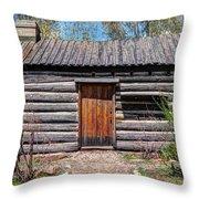 Rustic Pioneer Log Cabin - Salt Lake City Throw Pillow