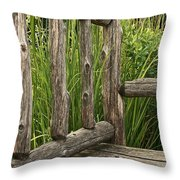 Rustic Seating Throw Pillow