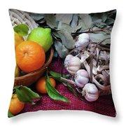 Rustic Still-life Throw Pillow by Carlos Caetano