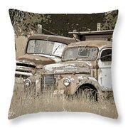 Rustic Trucks Throw Pillow