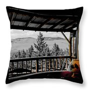 Rustic View Of The Great Outdoors Throw Pillow
