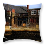 Rustic Waterfront Throw Pillow