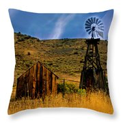 Rustic Windmill Throw Pillow
