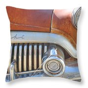 Rusty Abandoned Old Buick Eight Throw Pillow