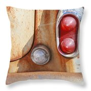 Rusty Abandoned Old Car Throw Pillow