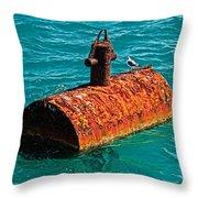 Rusty Bobber Throw Pillow