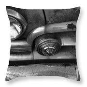 Rusty Cadillac Detail Throw Pillow