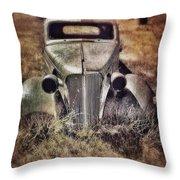 Rusty Car  Throw Pillow
