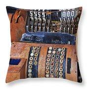 Rusty Cash Register Throw Pillow