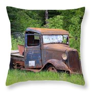 Rusty Chevy Throw Pillow