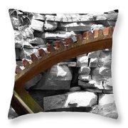 Rusty Cog Throw Pillow