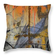 Rusty Crow  Throw Pillow