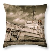 Rusty Duke Throw Pillow by Adrian Evans