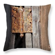 Rusty Hinge Throw Pillow