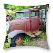 Rusty Is Retired Throw Pillow