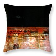 Rusty Layers Throw Pillow
