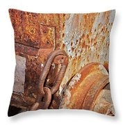 Rusty Metal Throw Pillow