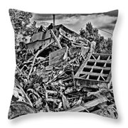 Rusty Metal Stuff IIi Throw Pillow