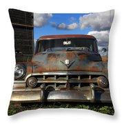 Rusty Old Cadillac Throw Pillow