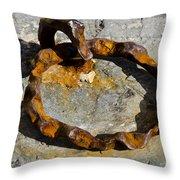Rusty Ring Throw Pillow