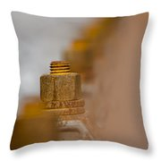 Rusty Screw Throw Pillow