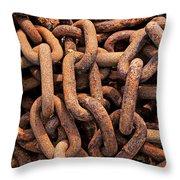 Rusty Ships Chain Throw Pillow