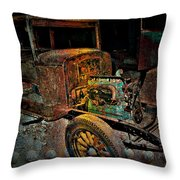 Rusty Travels Throw Pillow