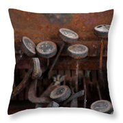 Rusty Typewriter Throw Pillow
