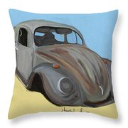 Rusty V.w. Bug Throw Pillow