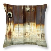 Rusty Wall In The City Throw Pillow