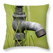 Rusty Water Supply Point Throw Pillow