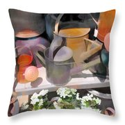 Rusty Watering Cans Throw Pillow