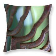 Rusty Windchimes Throw Pillow