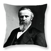 Rutherford B. Hayes, 19th American Throw Pillow by Photo Researchers