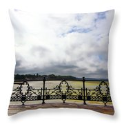 Ryde On The Solent Boardwalk Throw Pillow