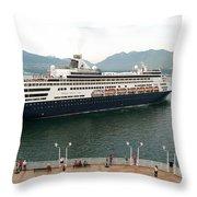 Ryndam Vancouver Port 1 Throw Pillow