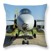 Saab Jas39d Gripen Throw Pillow