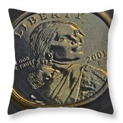 Sacagawea 2001 Throw Pillow