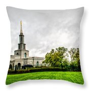 Sacramento Temple Landscape Throw Pillow