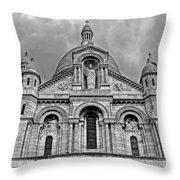Sacre Coeur Montmartre Paris Throw Pillow