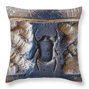 Sacred Scarab. Throw Pillow by JSM Fine Arts John Malone